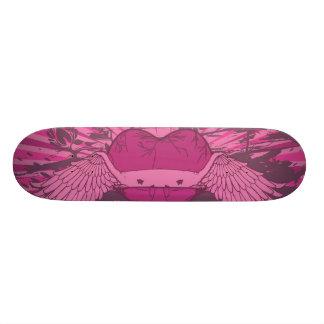winged Kunst des defekten Herzens Skateboarddeck