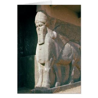Winged menschlich-köpfiger Stier, Neo-Assyrian Karte