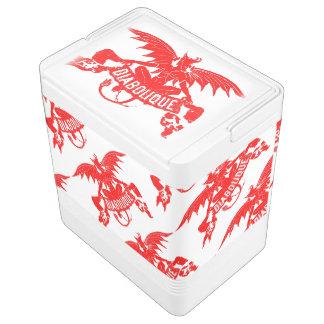 Winged roter Teufel-Halloween-Party-Eis-Eimer Kühlbox