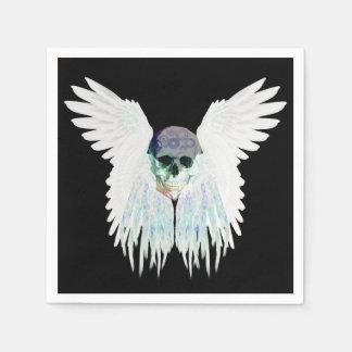 Winged Schädel-gotischer Entwurf perfekt für Servietten