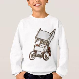 Winged sprinten Sie das gefärbte Auto-Weiß Sweatshirt