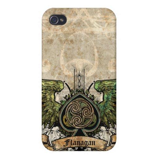 Winged Tätowierungs-keltischer Knoten-künstlerisch iPhone 4 Case