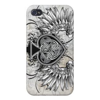 Winged Tätowierungs-keltischer Knoten-künstlerisch iPhone 4 Schutzhüllen
