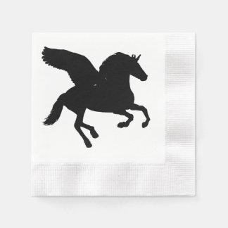 Winged Unicorn-Silhouette Servietten