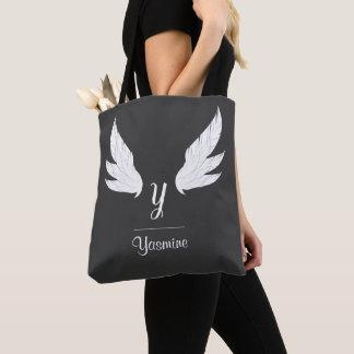 Winged weiße Taschen-Tasche des Monogramm-| Tasche