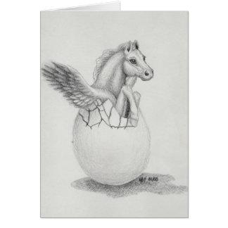 """""""Wings"""" Baby Pegasus, Fliegen-Pferdesammlung Karte"""