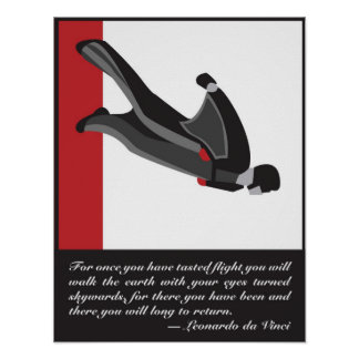Wingsuit SkyDive Plakat