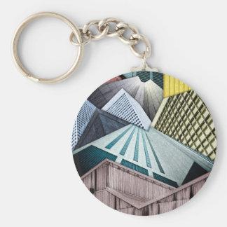 Winkel der Stadt-Strukturen Schlüsselanhänger