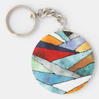 Winkel der strukturierten Farben Schlüsselanhänger