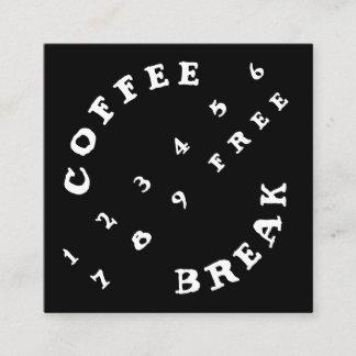 Winkliger 2 Reihe Zahl-einfacher Loyalitäts-Kaffee Treuekarte