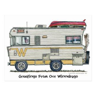 Winnebago-Camper RV-Postkarten Postkarte