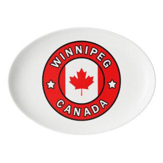 Winnipeg Kanada Porzellan Servierplatte
