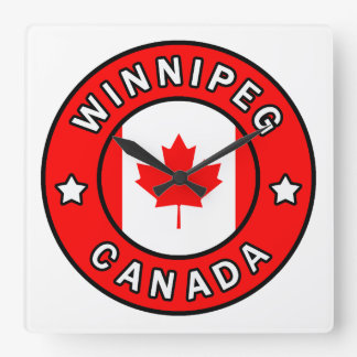 Winnipeg Kanada Quadratische Wanduhr