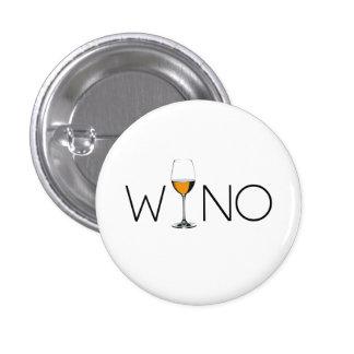 Wino-Wein-Liebhaber-Glas Runder Button 3,2 Cm
