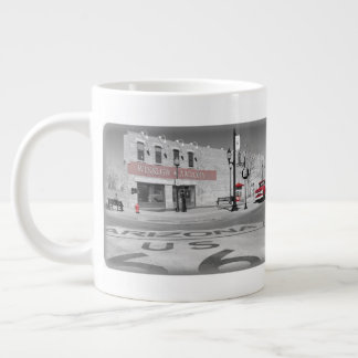 Winslow Arizona rote Spritzen-Fotografie Jumbo-Tasse