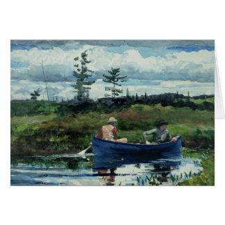 Winslow Homer - das blaue Boot Karte