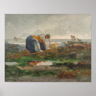 Winslow Homer - die Miesmuschel-Sammler Poster