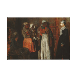 Winslow Homer - ein Besuch von der alten Geliebte Leinwanddruck