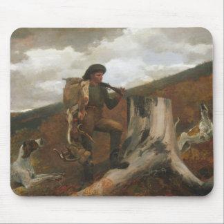 Winslow Homer - ein Jäger und Hunde Mousepads
