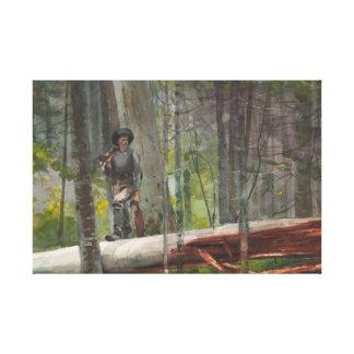 Winslow Homer - Jäger im Adirondacks Leinwanddruck