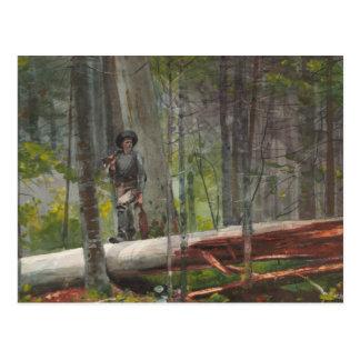 Winslow Homer - Jäger im Adirondacks Postkarte