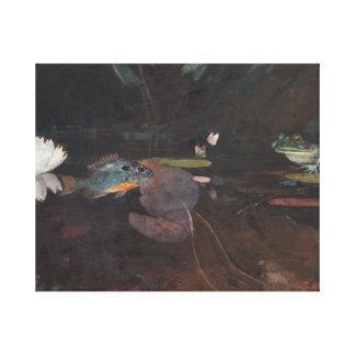 Winslow Homer - Nerz-Teich Leinwanddruck