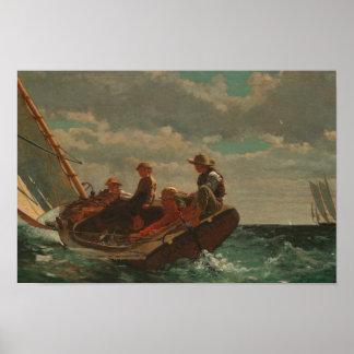 Winslow Homer - sausend herauf (ein angemessener Poster