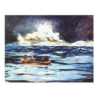 Winslow Homer-Unter den Fällen, die großartige Postkarte