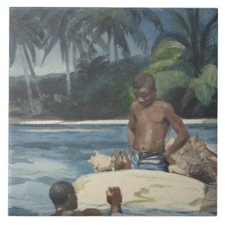 Winslow Homer - Westindien-Taucher Keramikfliese