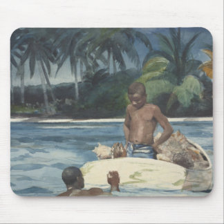 Winslow Homer - Westindien-Taucher Mousepad