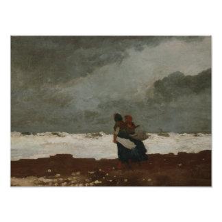 Winslow Homer - zwei Zahlen durch das Meer Fotodruck
