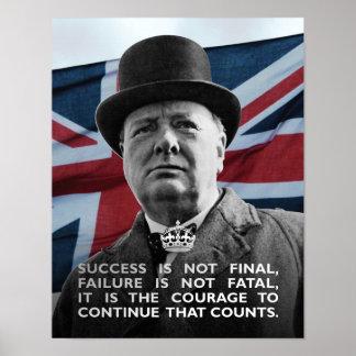 Winston Churchill- Erfolg Poster
