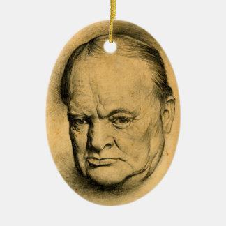 Winston Churchill Keramik Ornament