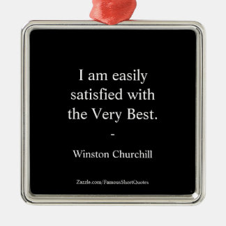 Winston- Churchillzitat; Das sehr beste Silbernes Ornament