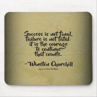 Winston- Churchillzitat; Erfolg Mousepad