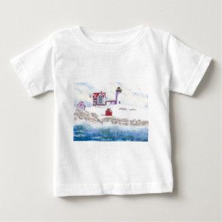 Winter am Klumpen-Leuchtturm in Maine Baby T-shirt
