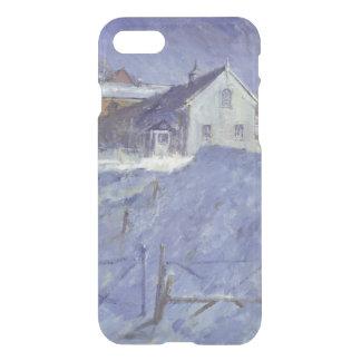 Winter am silbernen Häuschen iPhone 8/7 Hülle