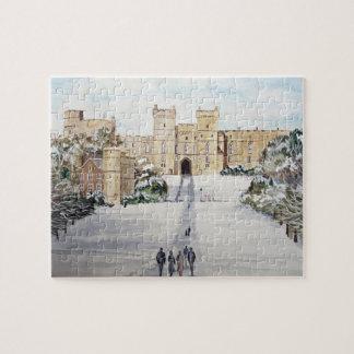 Winter an der Windsor Schloss-Landschaft Puzzle