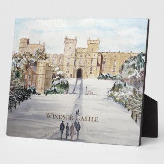 Winter an der Windsor Schloss-Landschaftsmalerei Fotoplatte