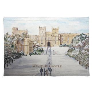 Winter an Windsor Schloss durch Farida Greenfield Tischset