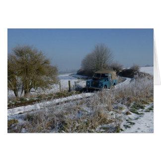 Winter-Antrieb Grußkarte