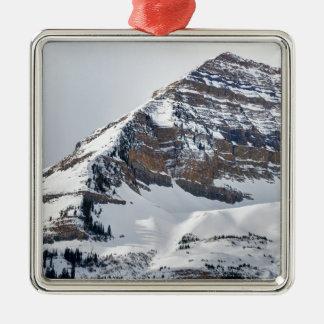 Winter auf Mt Timpanogos - Sundance - Utah Silbernes Ornament