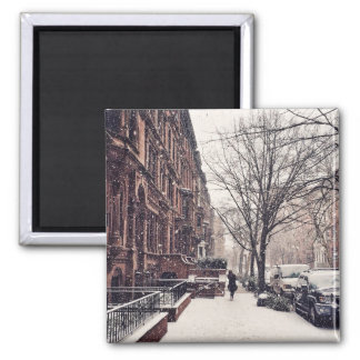 Winter auf Upper West Side Quadratischer Magnet