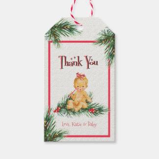 Winter-Babyparty des Baby-| danken Ihnen zu Geschenkanhänger