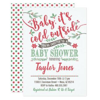 Winter-Babyparty-Einladung Karte