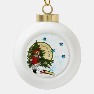 Winter-Ball-Verzierung Keramik Kugel-Ornament