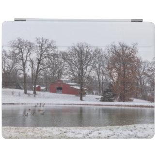Winter-Bauernhof Pano iPad Smart Cover