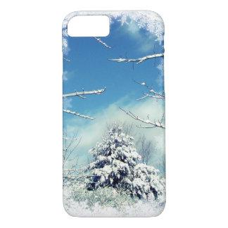 Winter-Baum-blauer und weißer iPhone 7 Kasten iPhone 8/7 Hülle
