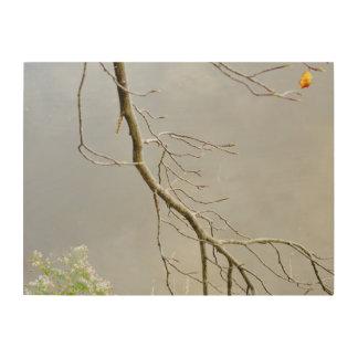 Winter-Baum Holzdrucke