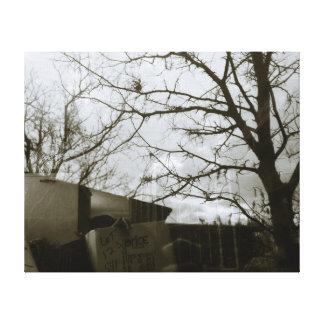 Winter-Baum-Reflexions-Galerie eingewickelte Leinw Gespannter Galeriedruck